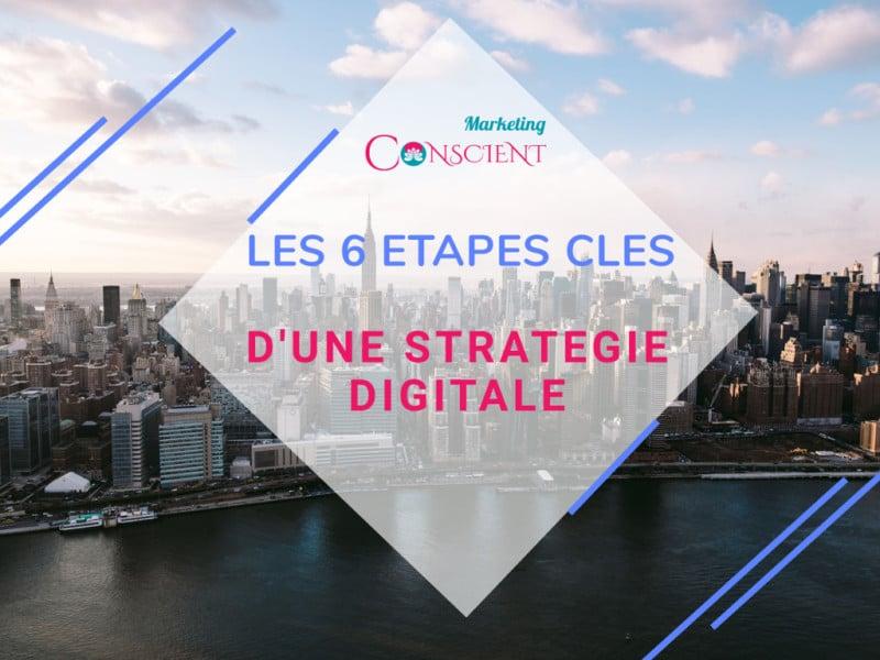 Les 6 étapes clés d'une stratégie digitale